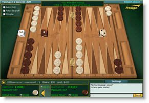 Play65 backgammon spel