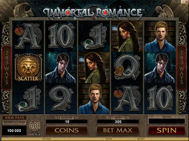 free spins for immortal romance slot