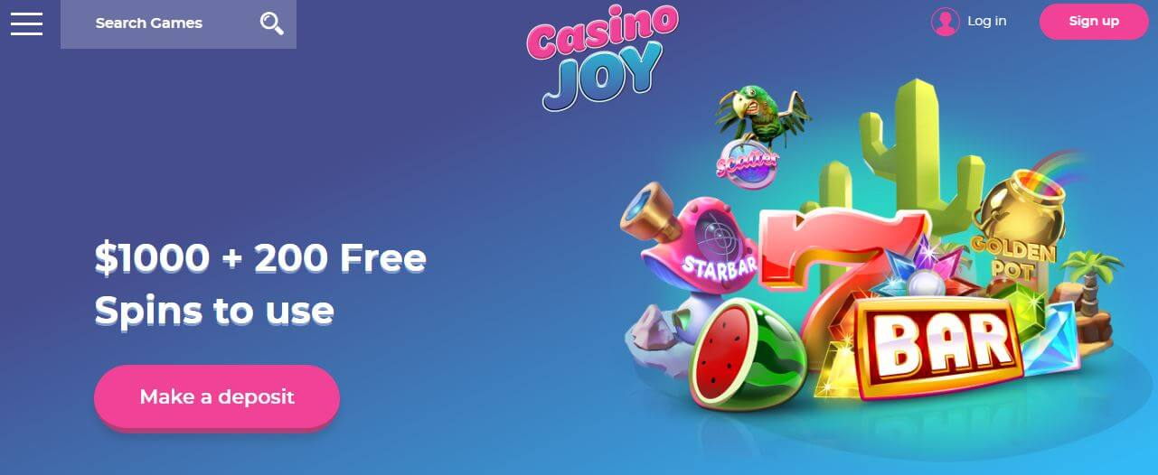 Collect your Casino Joy bonus now!