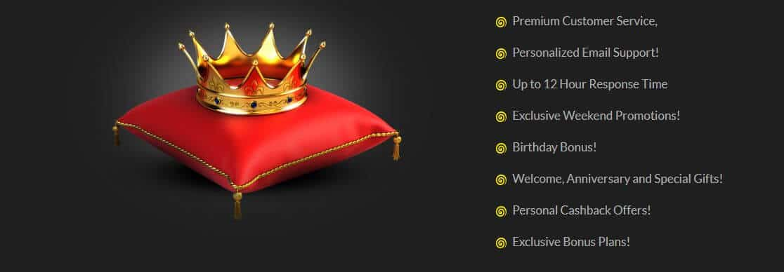 spinit casino - crown on a pillow
