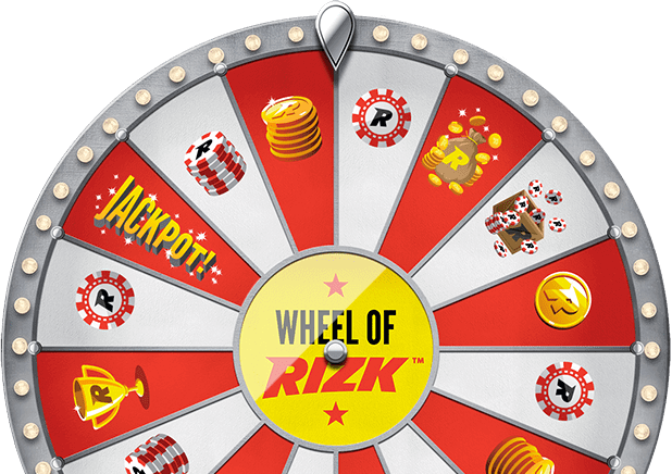 Win free spins and bonuses in Wheel of Rizk!