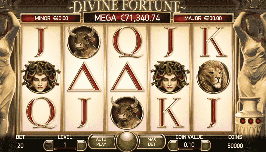 divine fortune slot game play