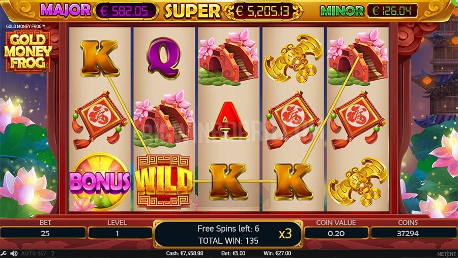 gold money frog slot online game play