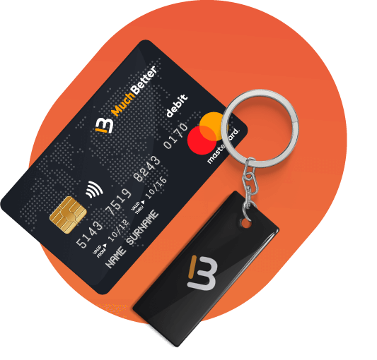 much better mastercard and a key holder