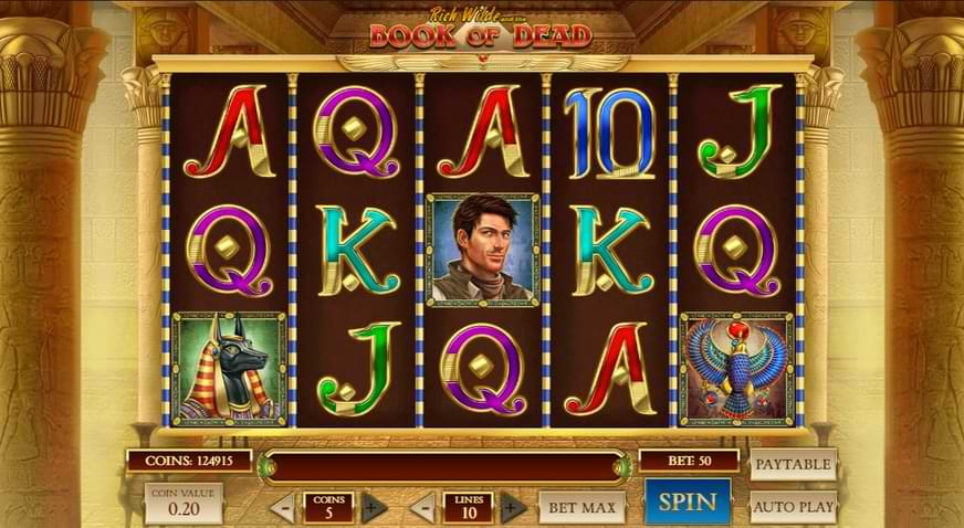 Book of Dead Slot Game Play