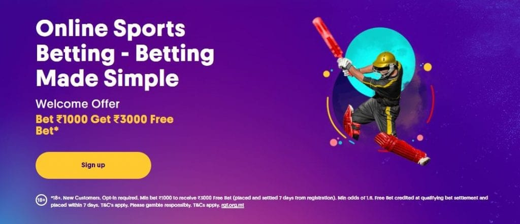 Indian Sports Betting welcome offer for Casumo