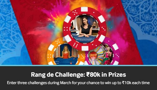 betway indian offer rang de challenge march