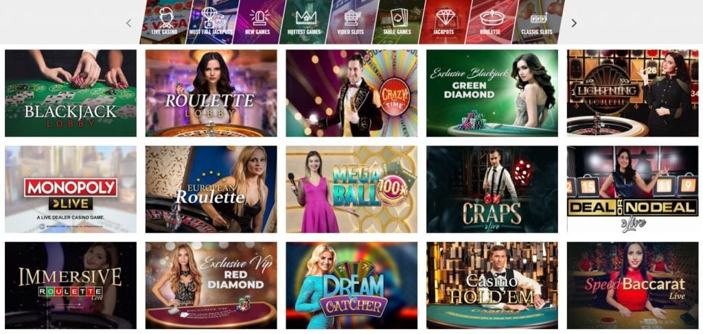 Vegas Hero live casino game choices for Indian players