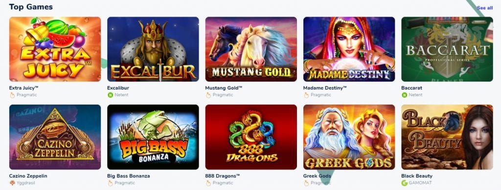 some of the online slots by Coco Casino